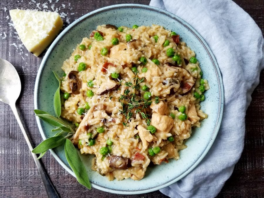 Instant Pot Chicken Marsala Risotto | giveitsomethyme.com