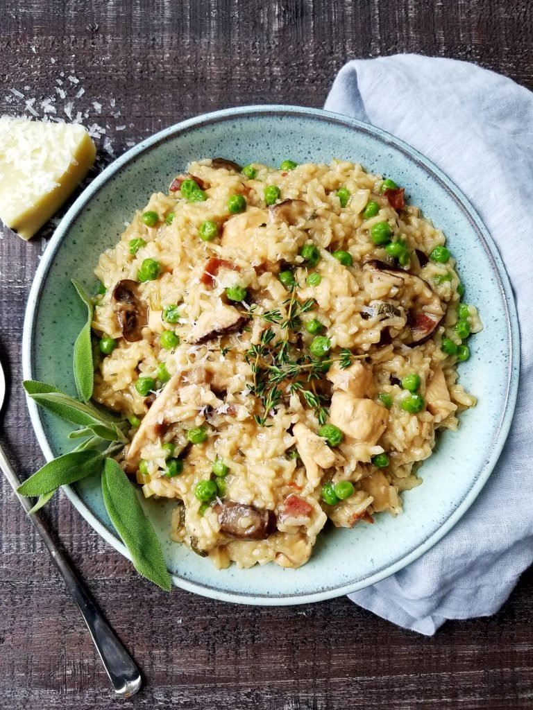 Instant Pot Chicken Marsala Risotto - giveitsomethyme.com