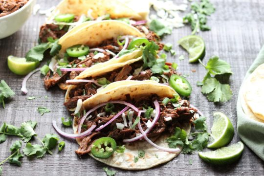 Slow Cooker Ancho Short Rib Tacos | Give it Some Thyme