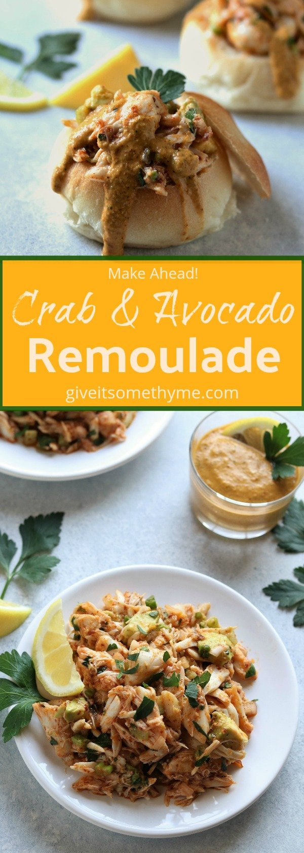 Crab & Avocado Remoulade   Give it Some Thyme