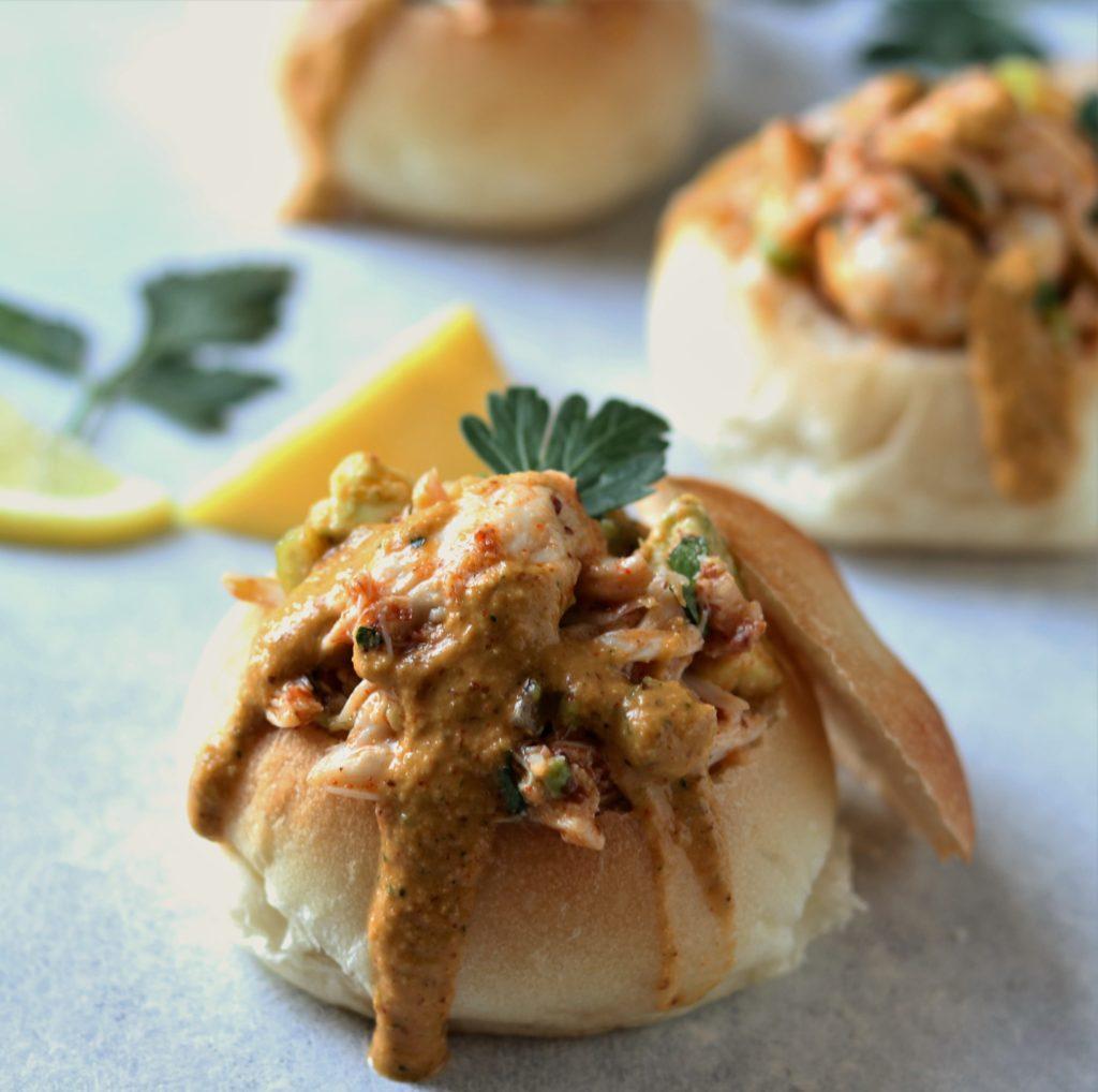 Crab and Avocado Remoulade Sliders - giveitsomethyme.com
