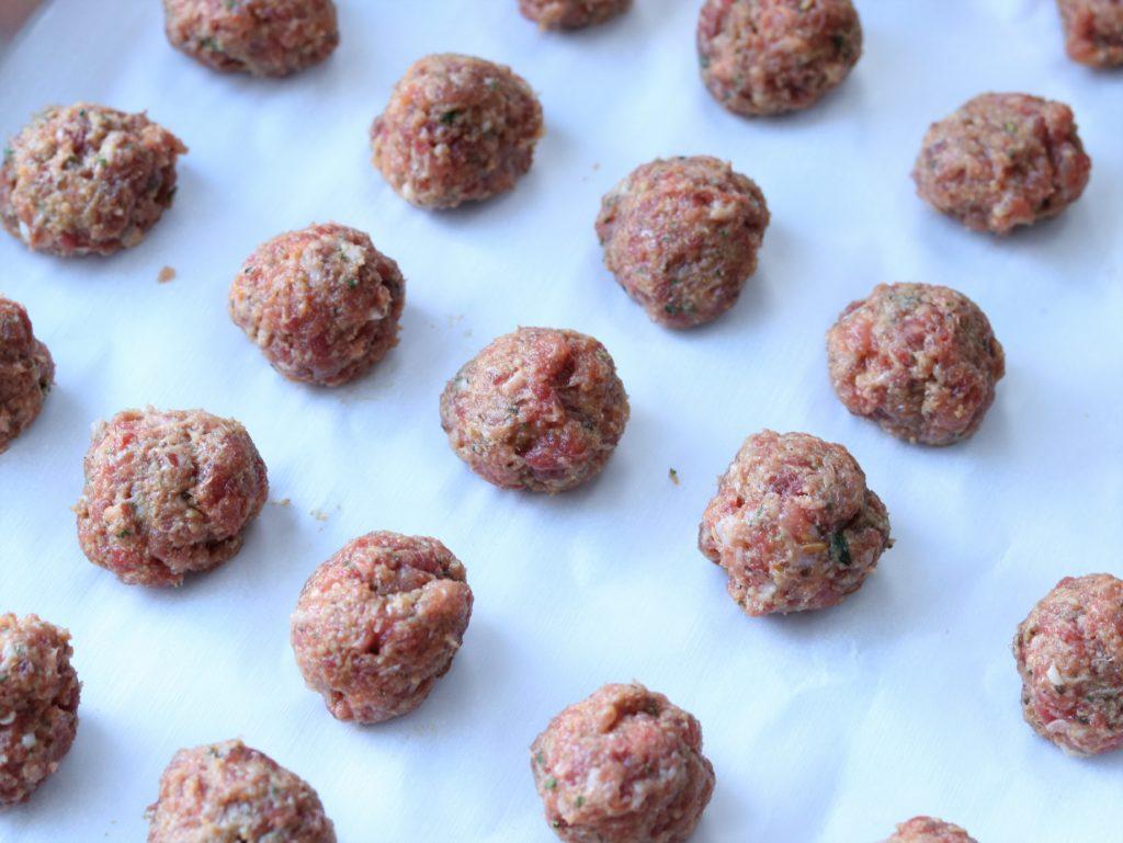 Italian Wedding Soup Meatballs Formed