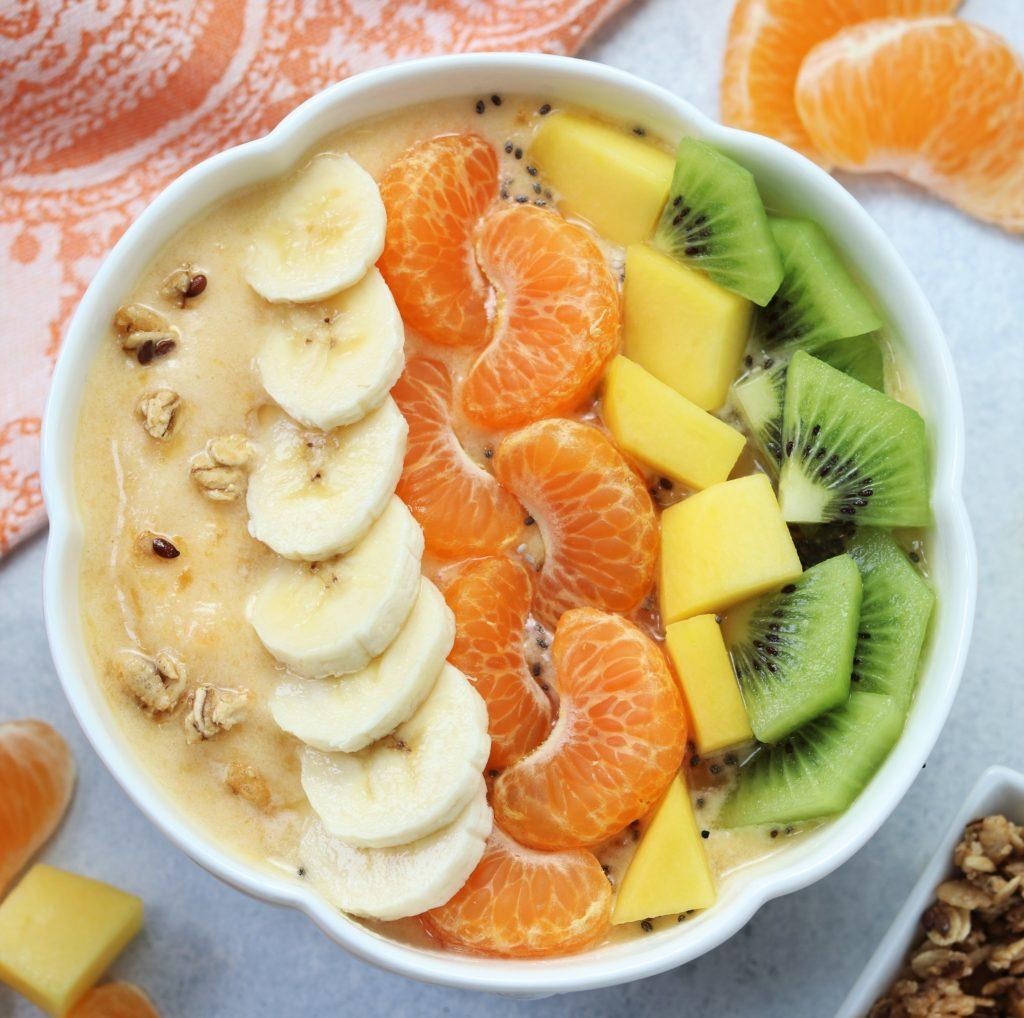 Sumo Citrus Mango Smoothie Bowl Closer Up - giveitsomethyme.com