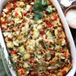Cheesy Veggie and Ham Brunch Casserole - Give it Some Thyme