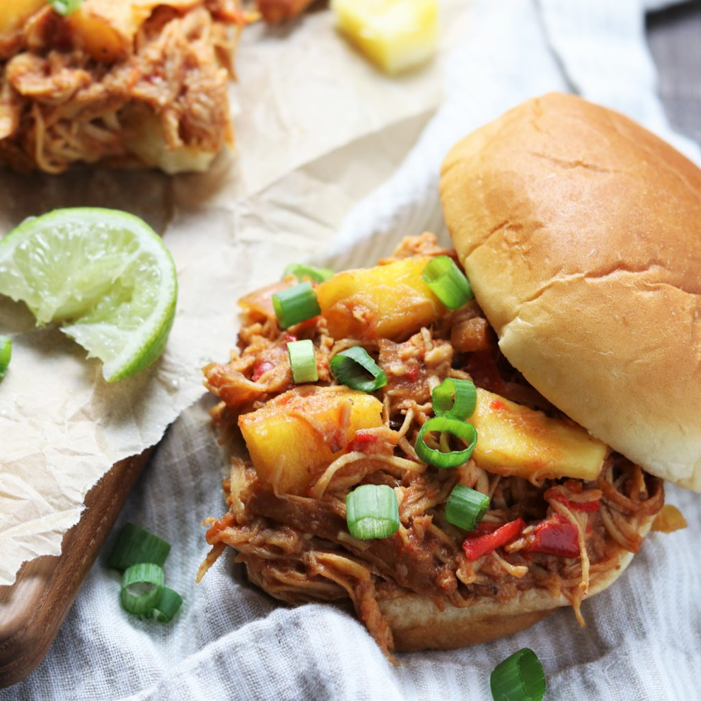 Slow Cooker Hawaiian Chicken Sloppy Joes | giveitsomethyme.com