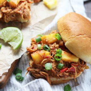 Slow Cooker Hawaiian Chicken Sloppy Joes   giveitsomethyme.com