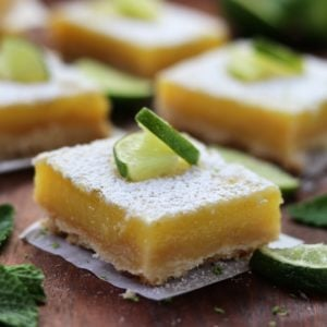 Key Lime Bars with Shortbread Crust - Give it Some Thyme