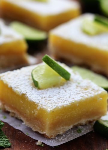 Key Lime Bars with Shortbread Crust | giveitsomethyme.com #dessert #keylime #barcookie #shortbread #limedessert