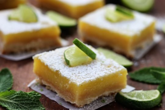 Key Lime Bars with Shortbread Crust   giveitsomethyme.com #dessert #keylime #barcookie #shortbread #limedessert