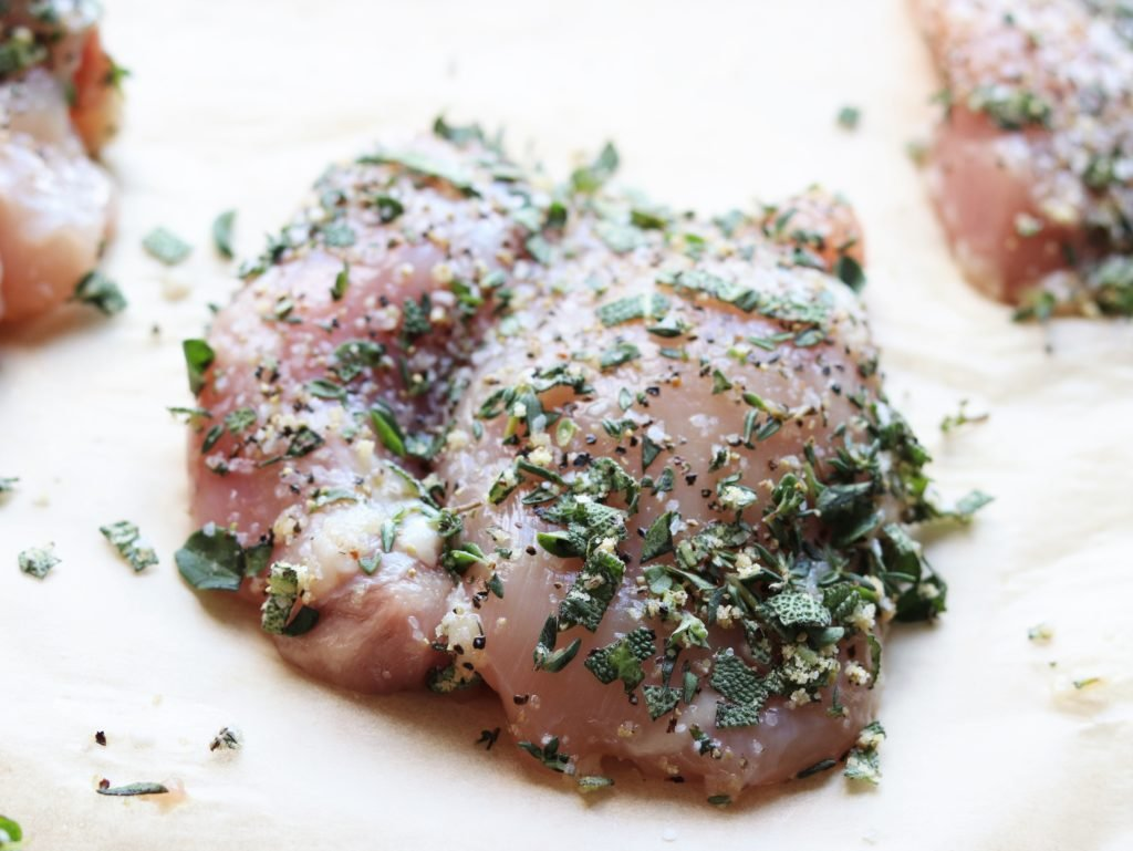 Chicken Thighs Rubbed with Herb Mixture