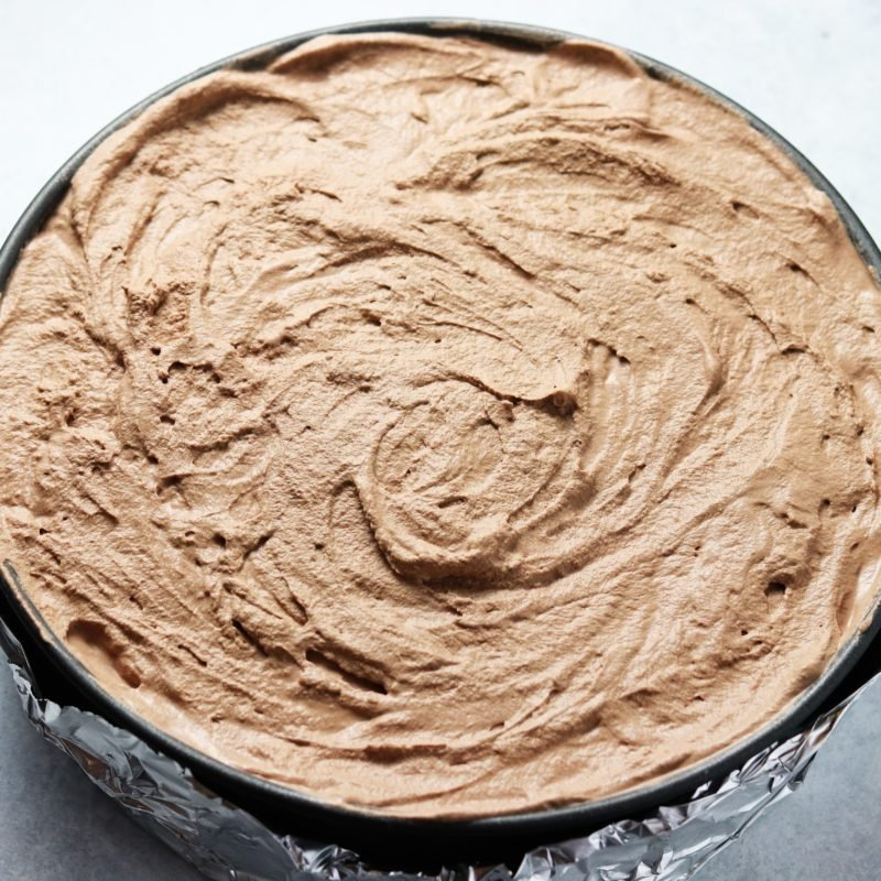 Chocolate Whipped Cream Layer on Top of ice cream
