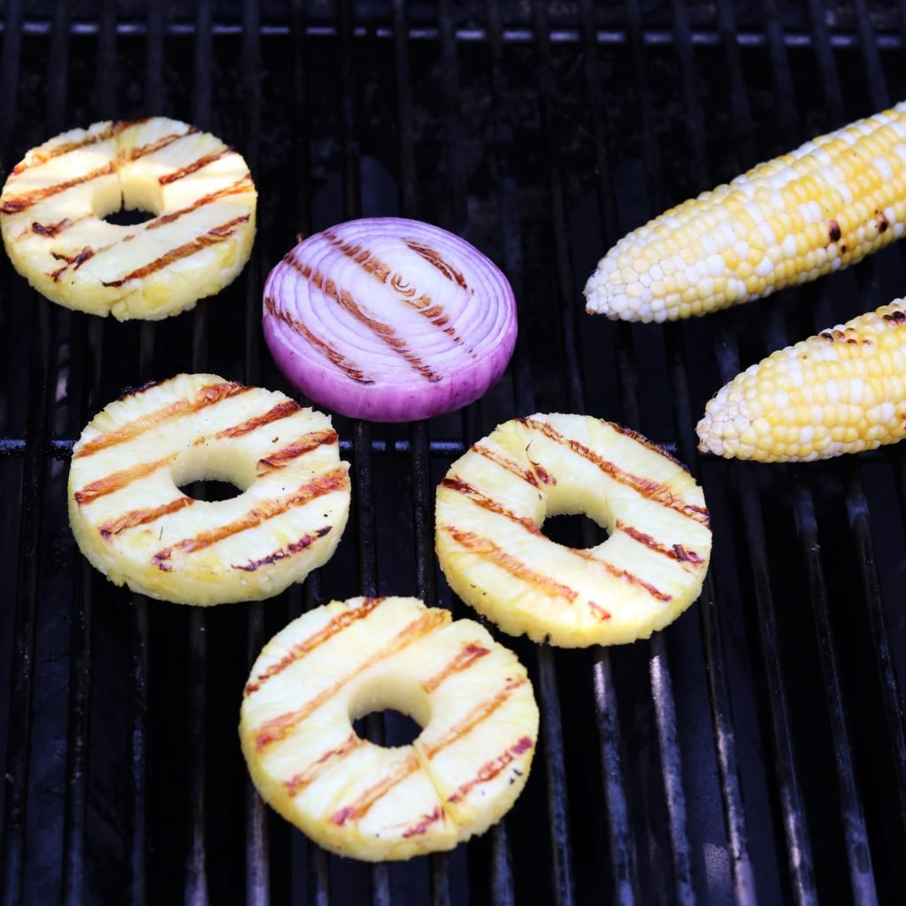 Pineapple Red Onion and Corn Grilling