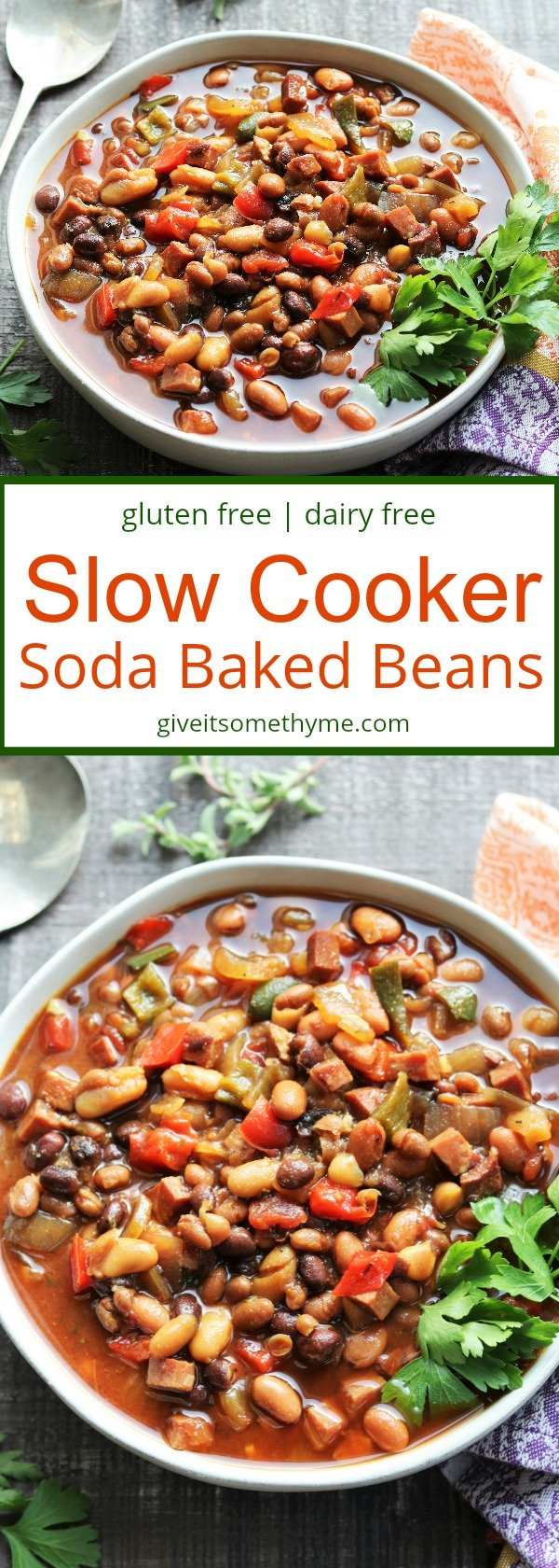 Slow Cooker Soda Baked Beans | Give it Some Thyme