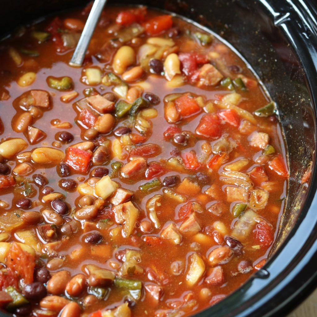 Soda Baked Beans Done in Slow Cooker