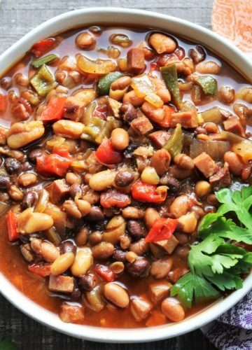 Slow Cooker Soda Baked Beans | giveitsomethyme.com