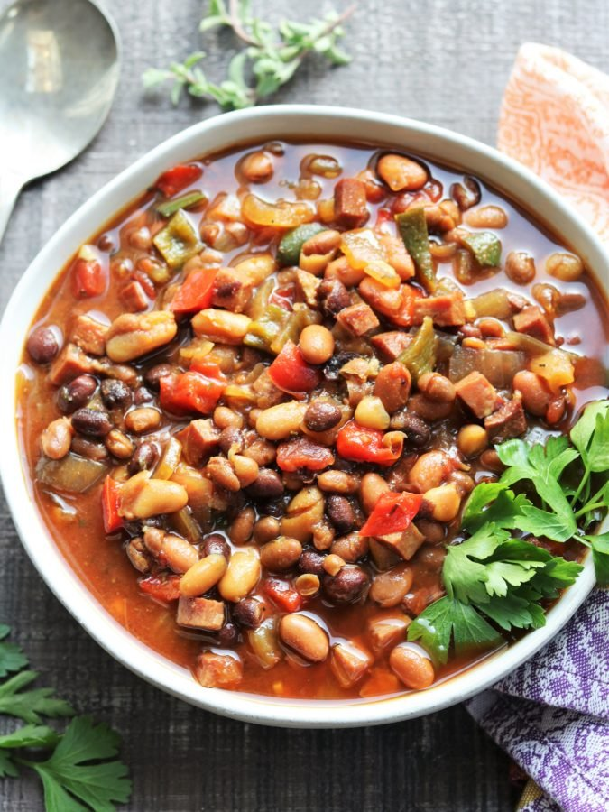 Slow Cooker Soda Baked Beans - Give it Some Thyme