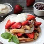 Strawberry Shortcake Buttermilk Waffles - giveitsomethyme.com