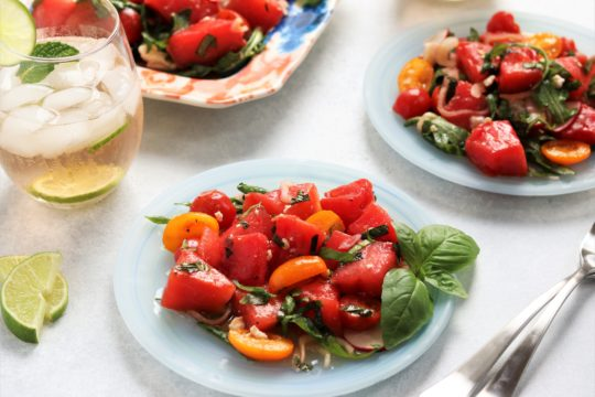 Grilled Watermelon and Arugula Salad | giveitsomethyme.com