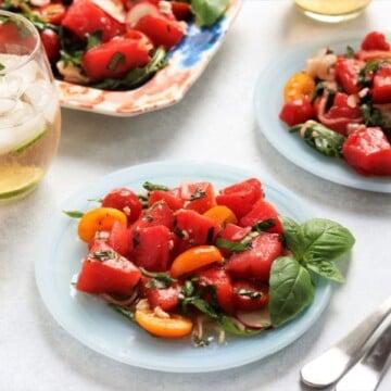Grilled Watermelon and Arugula Salad | giveitsomethyme.com