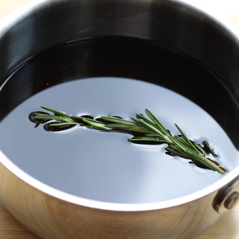 Marsala Glaze Ingredients in small saucepan.