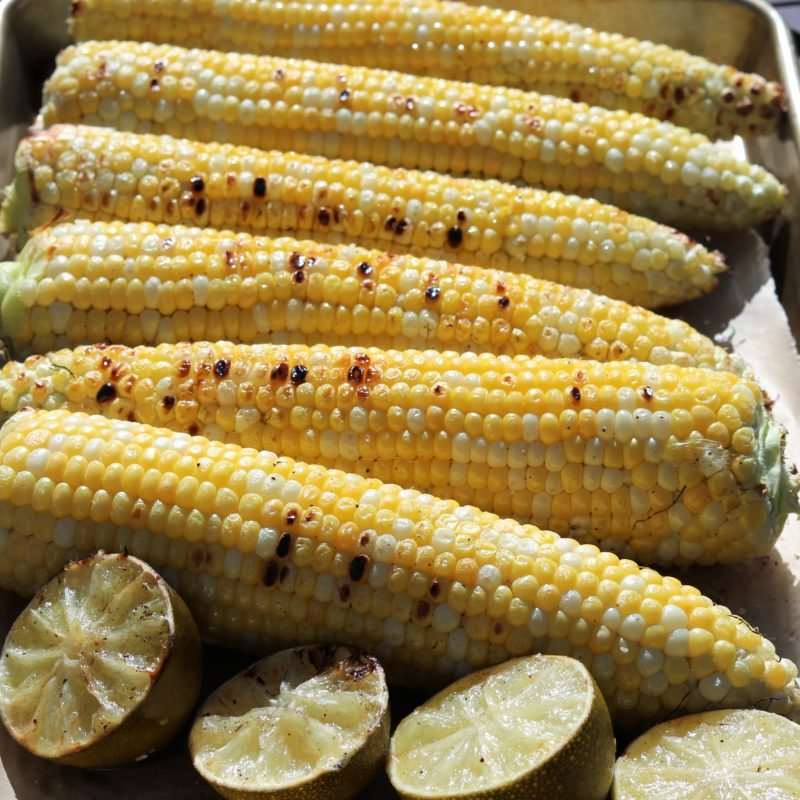 Corn and Limes Grilled