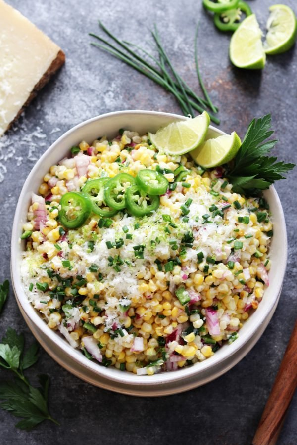 4th of July Party Menu Ideas - Grilled Corn with Manchego and Lime #cornsalad #summerrecipes #july4thfood #giveitsomethyme   Give it Some Thyme
