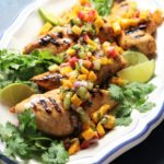 Grilled Tequila Lime Chicken w/ Fresh Fruit Summer Salsa - Give it Some Thyme