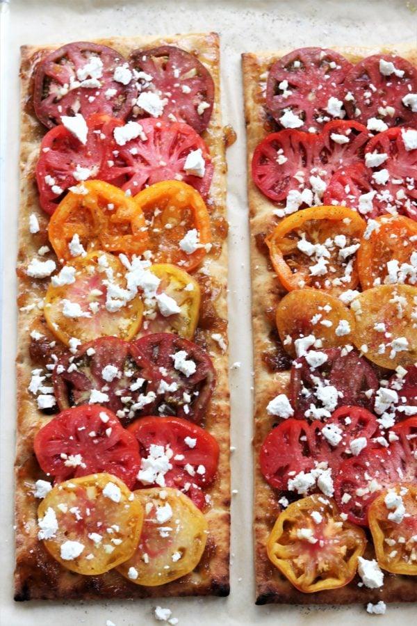 Heirloom Tomato Flatbread Ready to Bake