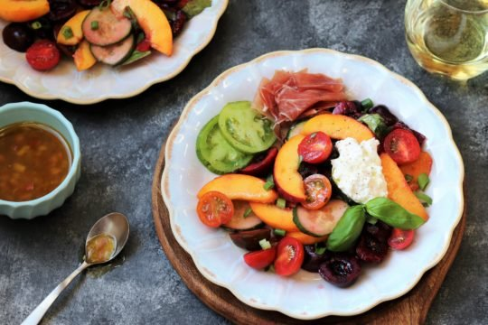 Stone Fruit and Tomato Summer Salad - giveitsomethyme.com