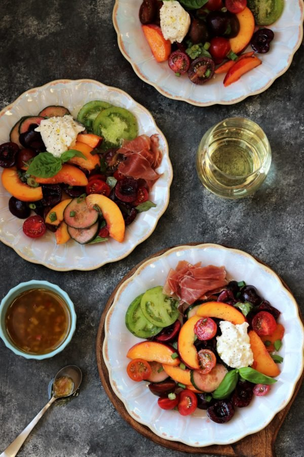 Stone Fruit and Tomato Summer Salad | Give it Some Thyme