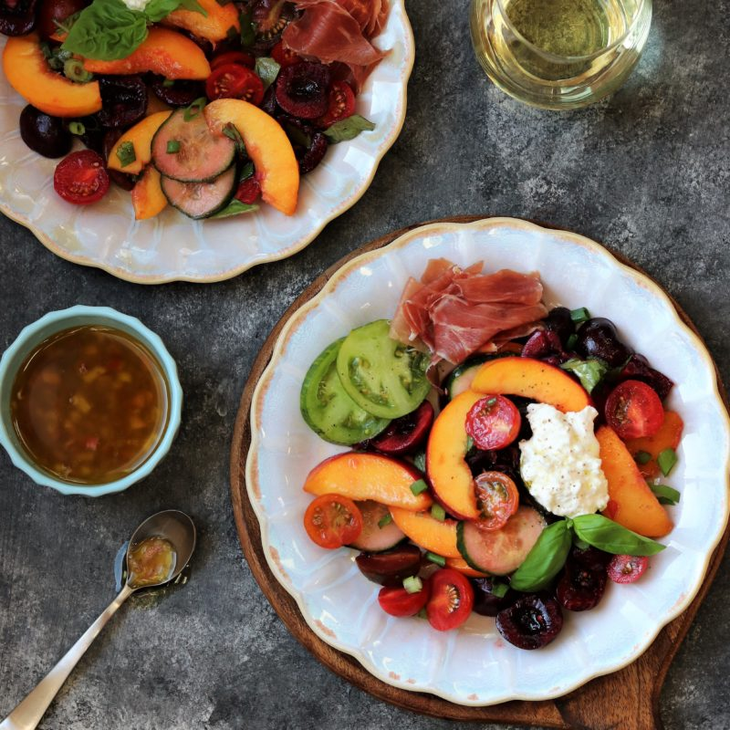Stone Fruit and Tomato Summer Salad | giveitsomethyme.com