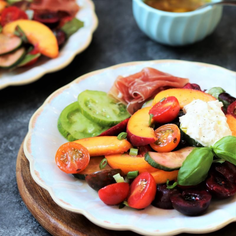 Stone Fruit and Tomato Summer Salad - Give it Some Thyme