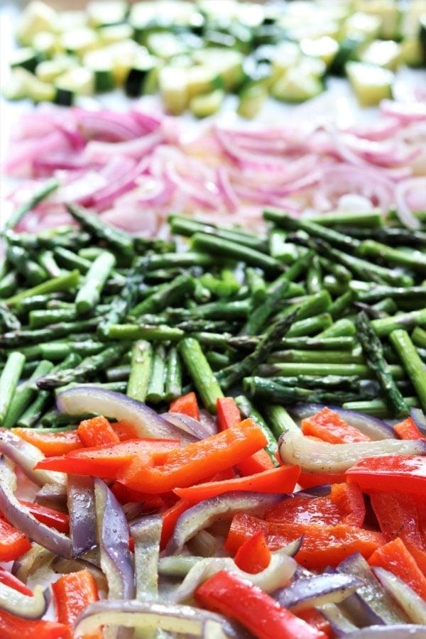 Tortellini Salad Vegetables After Roasting