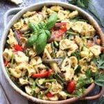 Basil Sun Dried Tomato Pesto Tortellini Salad - giveitsomethyme.com