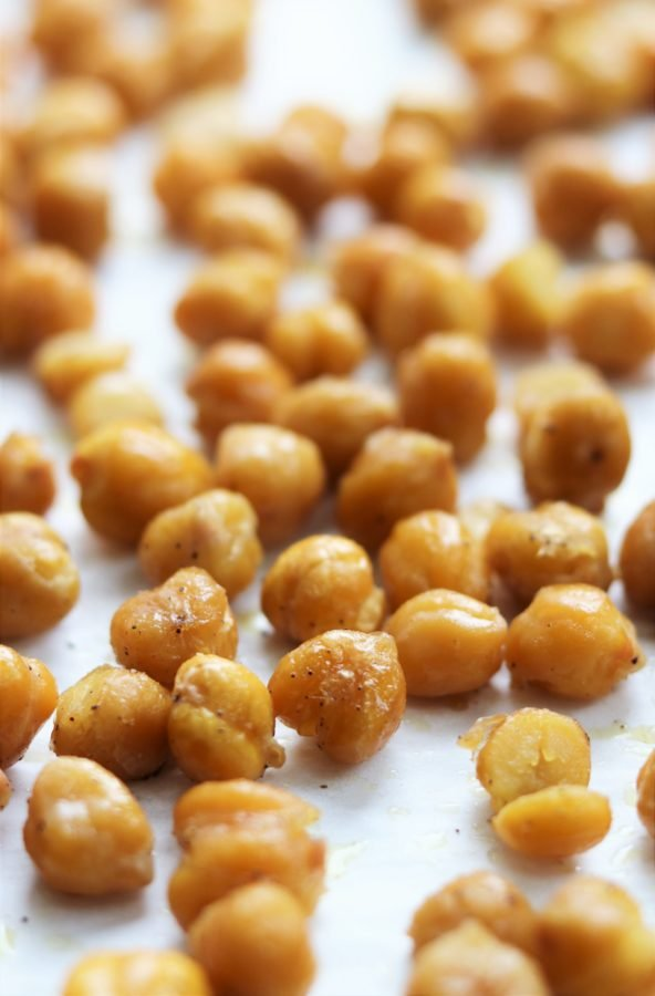 Chickpeas Roasted for Salad