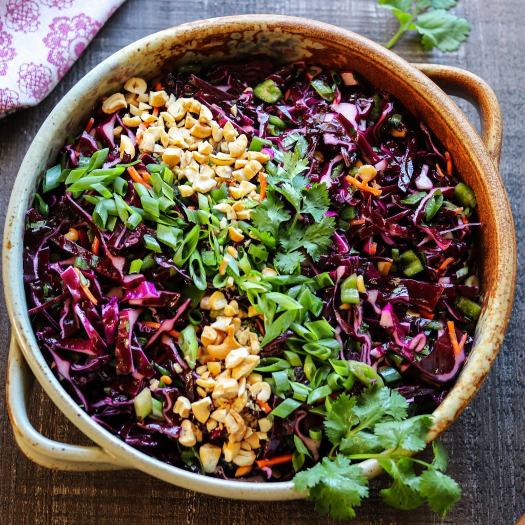 Asian Red Cabbage Slaw Quick Easy Give It Some Thyme