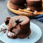 Warm Spiced Mocha Lava Cakes - giveitsomethyme.com – easy, prep-ahead, warm dark chocolate cakes with slightly crisp edges and oozing deliciousness! #lavacake #moltenlavacake #lavacakerecipe #mochalavacake #mochalavacakerecipe #moltenlavacake #moltenlavacakerecipe #chocolatecake #chocolatelavacake #chocolatelavacakerecipe #dessert #dessertforparties #giveitsomethyme