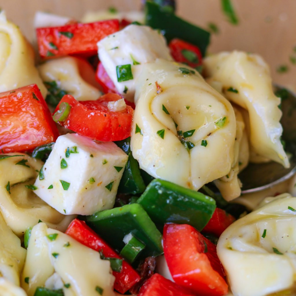 Tortellini Salad ready to Marinate