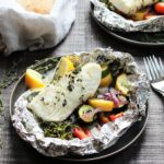 Grilled Halibut Broccolini & Zucchini Packets