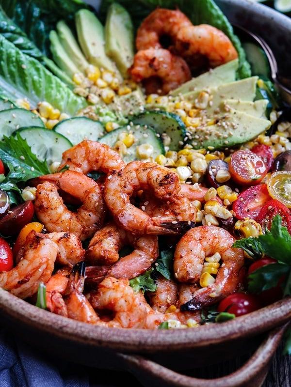 Close up of Grilled Shrimp