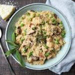 Instant Pot Chicken Marsala Risotto   Give it Some Thyme - an easy, creamy and delicious dinner recipe that's all done in the Instant Pot! #instantpotchickenrecipes #chickenmarsala #instantpotrecipes #chickenrisotto #mushroomrisotto #instantpotrisotto