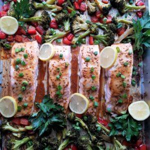 Sheet Pan Roasted Salmon