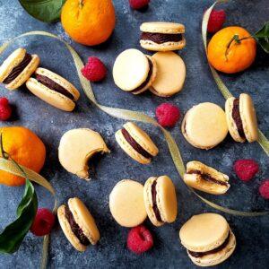 Orange French Macarons