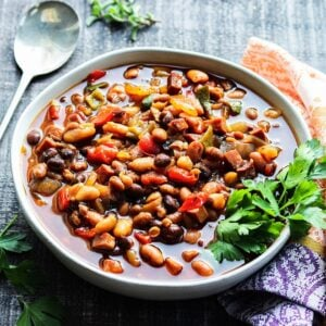 Slow Cooker Soda Baked Beans | giveitsomethyme.com – Keep the kitchen cool with this delicious, kicked up, sweet n' spicy summer side!