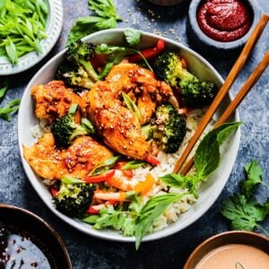 Sheet Pan Korean Chicken Bulgogi and Broccoli | giveitsomethyme.com - There is no shortage of flavor when it comes to this delicious sheet pan meal. A perfect meal prep recipe and comes together easily to serve any night of the week!
