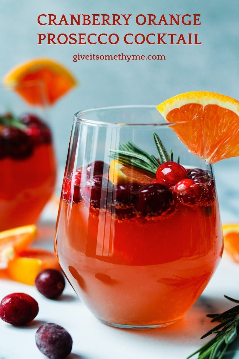 Cranberry Orange Prosecco Cocktail - This crisp and refreshing cocktail is festive, delicious and perfect for celebrating holidays throughout the year.