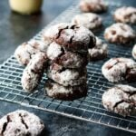 Mocha Midnight Crackles | giveitsomethyme.com – Dark chocolate crinkly cookies with a brownie-like texture that are melt-in-your-mouth delicious. You'll never stop at one! #midnightcrackles #mochacookies #cracklecookies #crinklecookies #chocolatecracklecookies #christmascookies #chocolatecookies #doublechocolatecookies #giveitsomethyme