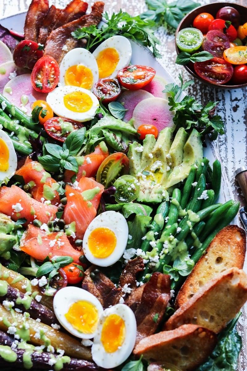 Spring Brunch Cobb Salad | giveitsomethyme.com